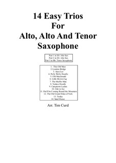 14 Easy Trios: For alto, alto and tenor saxophone by folklore