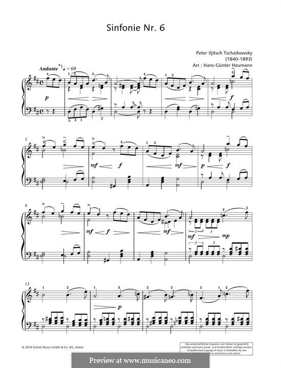 Movement II: Theme, for piano by Pyotr Tchaikovsky