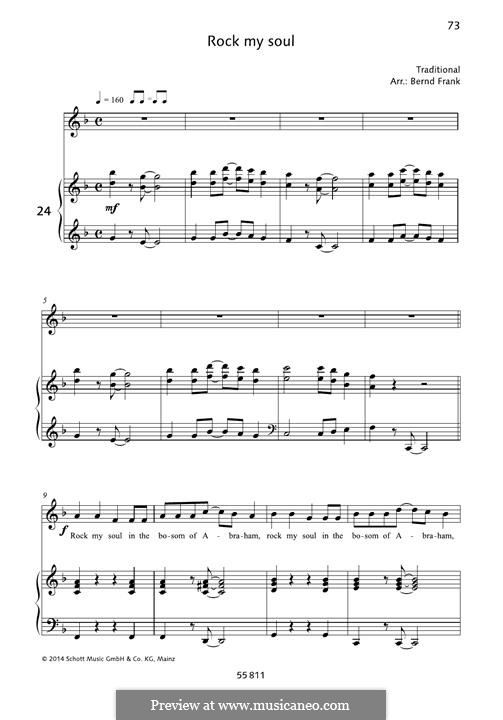 Rock-A-My-Soul: For voice and piano by folklore
