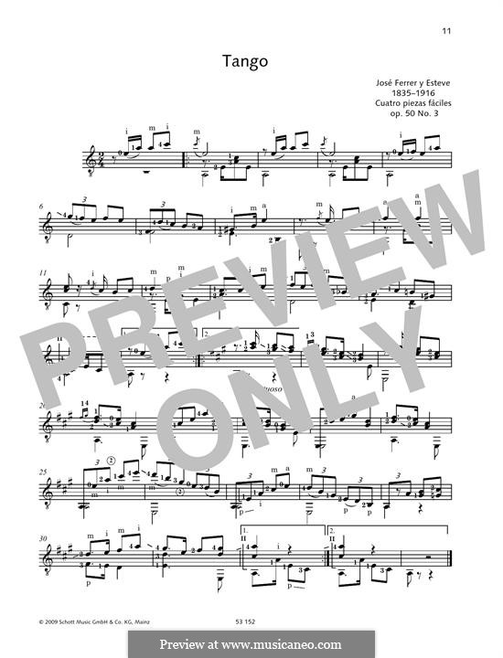 Tango: For guitar by José Ferrer