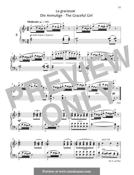 No.8 La Gracieuse (Gracefulness): For piano by Johann Friedrich Burgmüller