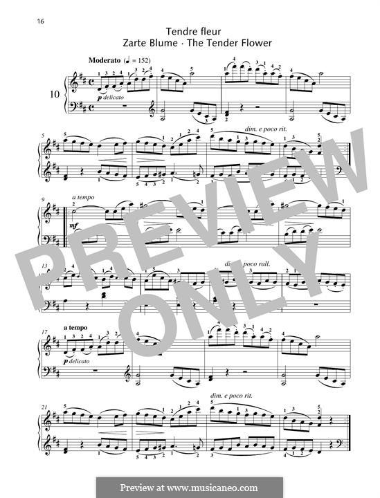 No.10 Tendre Fleur (A Dainty Flower): For piano by Johann Friedrich Burgmüller