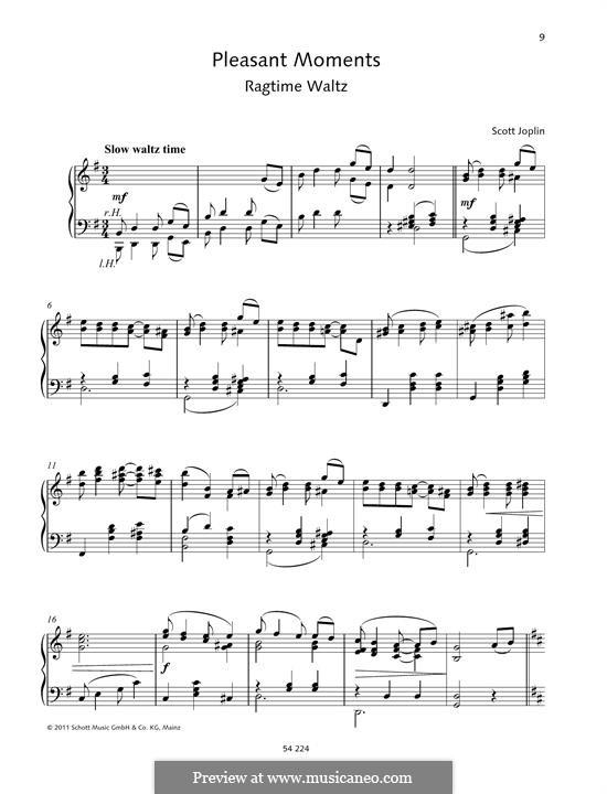 Pleasant Moments: For piano by Scott Joplin
