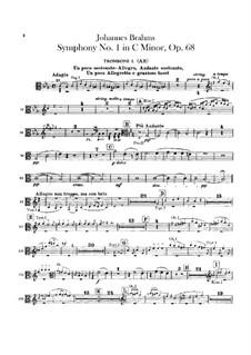 Complete set: Trombones parts by Johannes Brahms