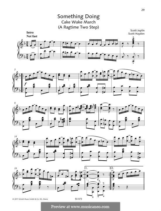 Something Doing: For piano by Scott Joplin, Scott Hayden