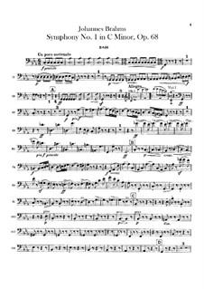 Complete set: Double bass part by Johannes Brahms