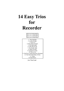 14 Easy Trios: For recorder by folklore