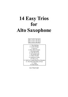 14 Easy Trios: For saxophone by folklore