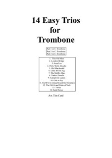 14 Easy Trios: For trombone by folklore