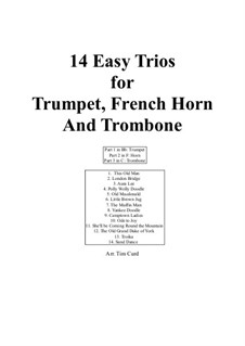 14 Easy Trios: For trumpet, french horn and trombone by folklore