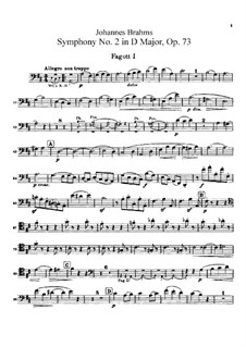 Complete set: Bassoons parts by Johannes Brahms