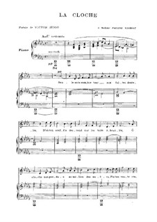 La cloche: French text by Camille Saint-Saëns