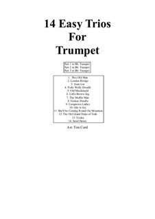 14 Easy Trios: For trumpet by folklore