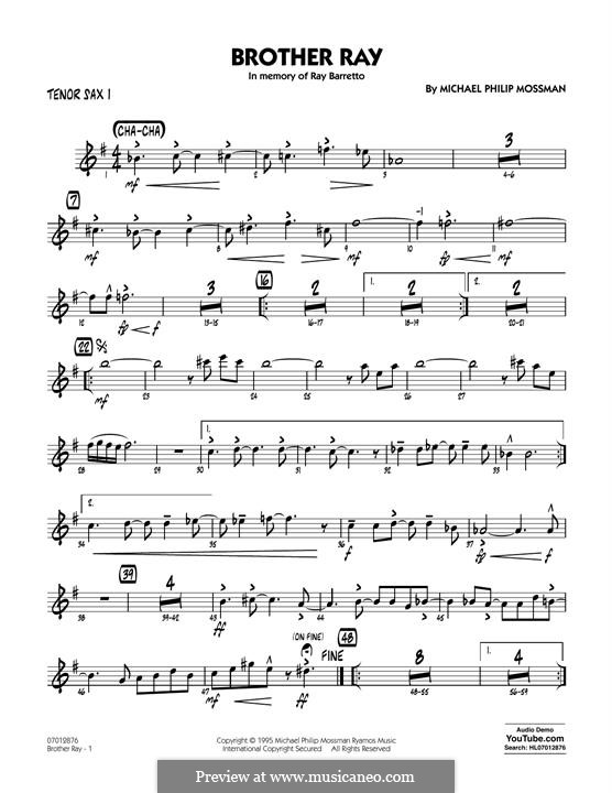 Brother Ray: Tenor Sax 1 part by Michael Philip Mossman