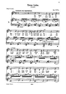 Six Songs, Op.7: No.1 Treue Liebe (True Love) by Johannes Brahms