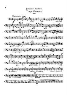 Tragic Overture, Op.81: Double bass part by Johannes Brahms