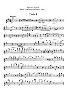 Nänie, Op.82: Flutes parts by Johannes Brahms