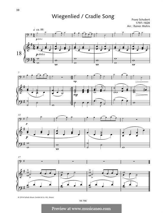 Wiegenlied (Cradle Song), D.498 Op.98 No.2: For cello and piano by Franz Schubert