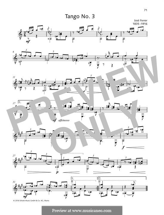 Tango No.3 : For guitar by José Ferrer