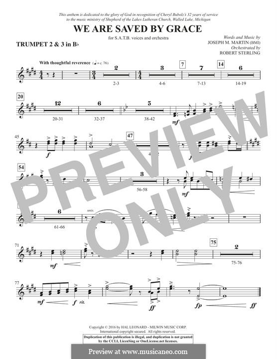 We Are Saved by Grace: Bb Trumpet 2,3 part by Joseph M. Martin