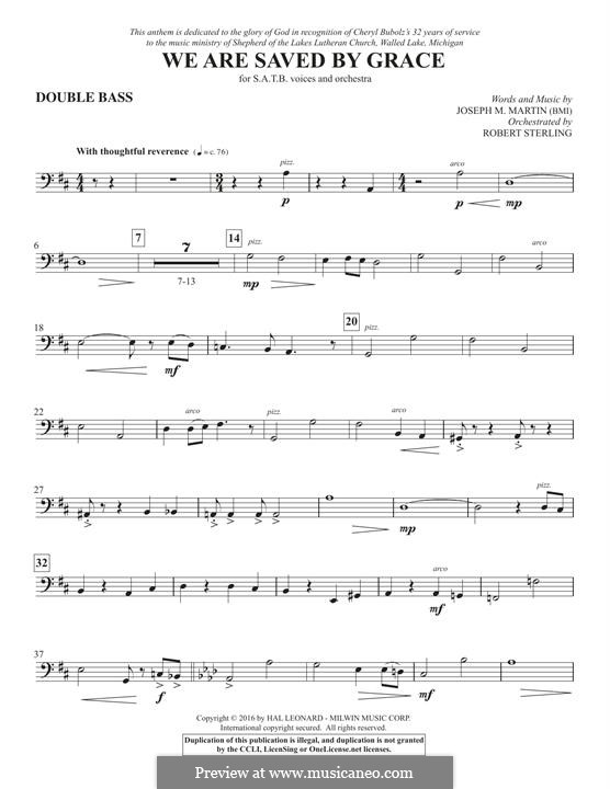 We Are Saved by Grace: Double Bass part by Joseph M. Martin