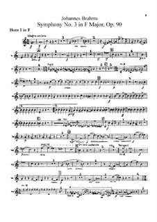 Complete set: Horns I, II parts by Johannes Brahms