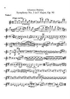 Complete set: Violin I part by Johannes Brahms