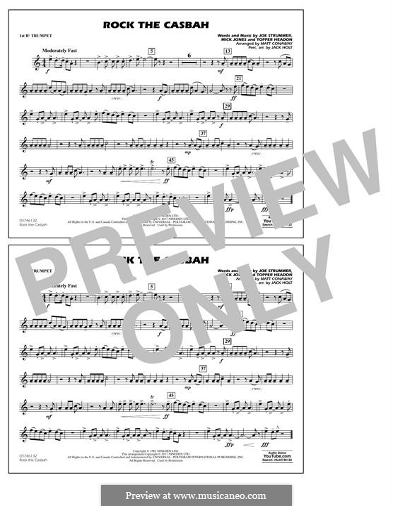 Rock the Casbah (The Clash): 1st Bb Trumpet part by Joe Strummer, Mick Jones, Topper Headon