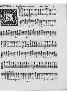 Motets and Antiphons for Voice, Strings and Organ, Op.7: Viola, viola da gamba and cello parts by Pirro Capacelli Conte Albergati
