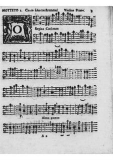 Motets and Antiphons for Voice, Strings and Organ, Op.7: Violins I-II parts by Pirro Capacelli Conte Albergati