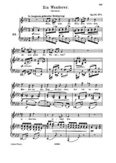 Five Songs, Op.106: No.5 Ein Wanderer by Johannes Brahms
