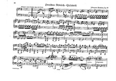 String Quintet No.2 in G Major, Op.111: Version for piano four hands by Johannes Brahms