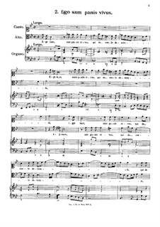 Eight Motets: No.2 Ego sum panis vivus by Antonio Caldara