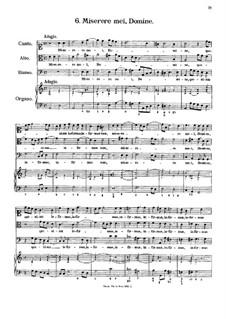 Eight Motets: No.6 Miserere mei, Domine by Antonio Caldara
