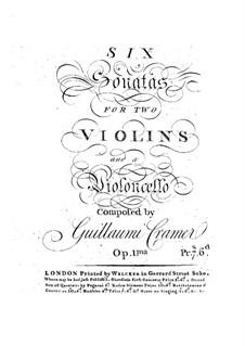 Six Trio Sonatas, Op.1: Violin I part by Wilhelm Cramer