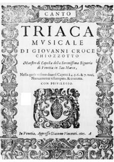 Triaca musicale: Soprano part by Giovanni Croce