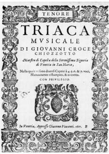 Triaca musicale: Tenor part by Giovanni Croce