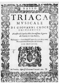 Triaca musicale: Bass part by Giovanni Croce