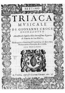 Triaca musicale: Tenor II part by Giovanni Croce