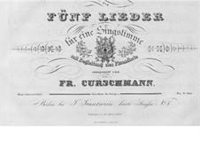 Five Songs, Op.9: Five Songs by Friedrich Curschmann
