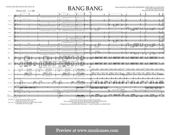 Bang Bang (Green Day): Full Score by Billie Joe Armstrong, Tré Cool, Mike Dirnt