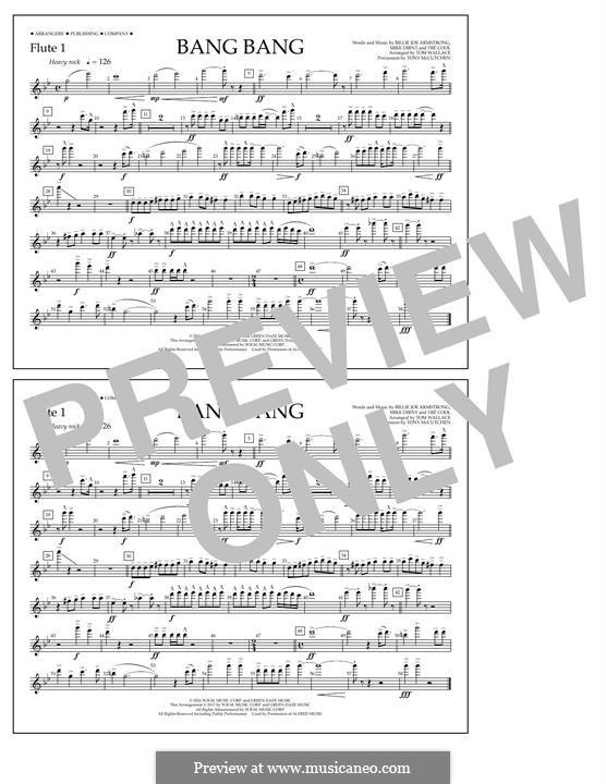 Bang Bang (Green Day): Flute 1 part by Billie Joe Armstrong, Tré Cool, Mike Dirnt