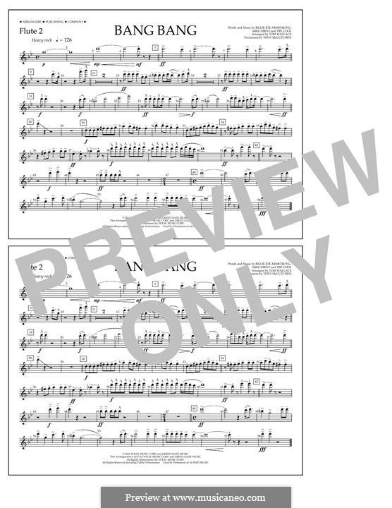 Bang Bang (Green Day): Flute 2 part by Billie Joe Armstrong, Tré Cool, Mike Dirnt