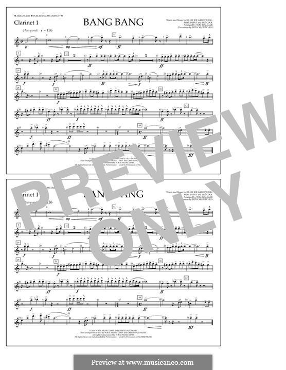 Bang Bang (Green Day): Clarinet 1 part by Billie Joe Armstrong, Tré Cool, Mike Dirnt