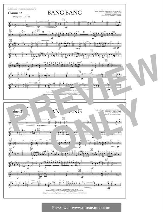 Bang Bang (Green Day): Clarinet 2 part by Billie Joe Armstrong, Tré Cool, Mike Dirnt