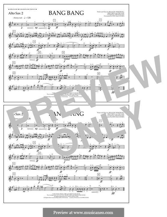 Bang Bang (Green Day): Alto Sax 2 part by Billie Joe Armstrong, Tré Cool, Mike Dirnt