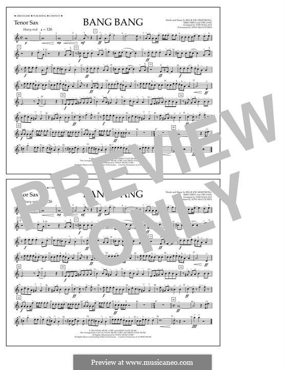 Bang Bang (Green Day): Tenor Sax part by Billie Joe Armstrong, Tré Cool, Mike Dirnt