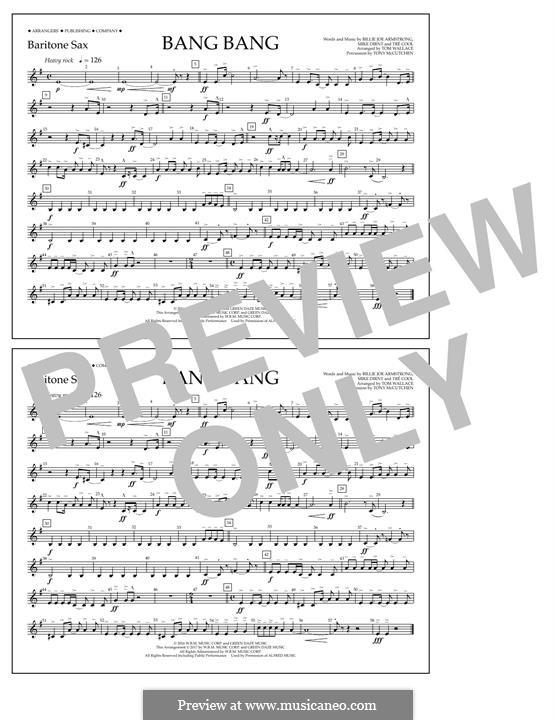 Bang Bang (Green Day): Baritone Sax part by Billie Joe Armstrong, Tré Cool, Mike Dirnt