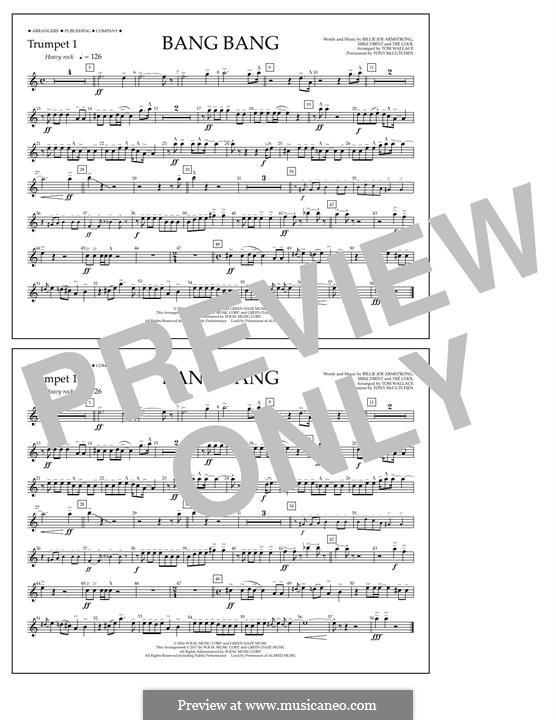 Bang Bang (Green Day): Trumpet 1 part by Billie Joe Armstrong, Tré Cool, Mike Dirnt