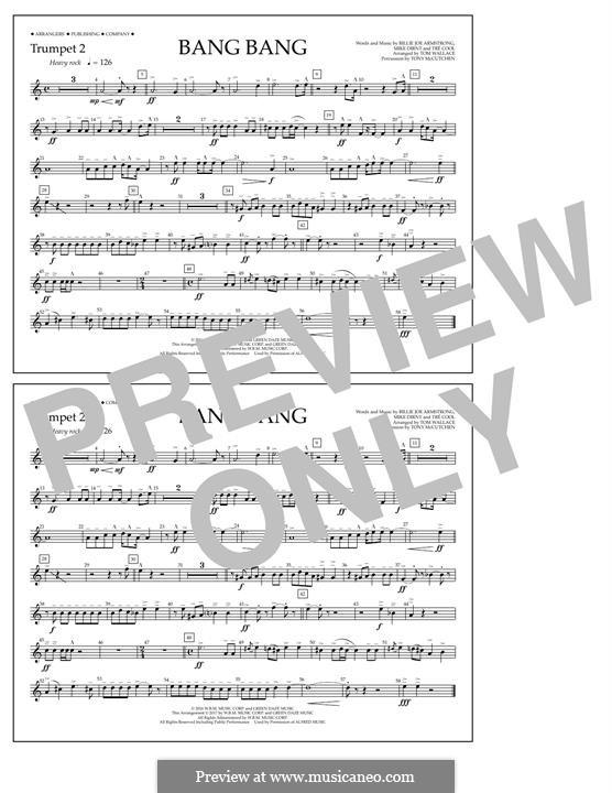 Bang Bang (Green Day): Trumpet 2 part by Billie Joe Armstrong, Tré Cool, Mike Dirnt